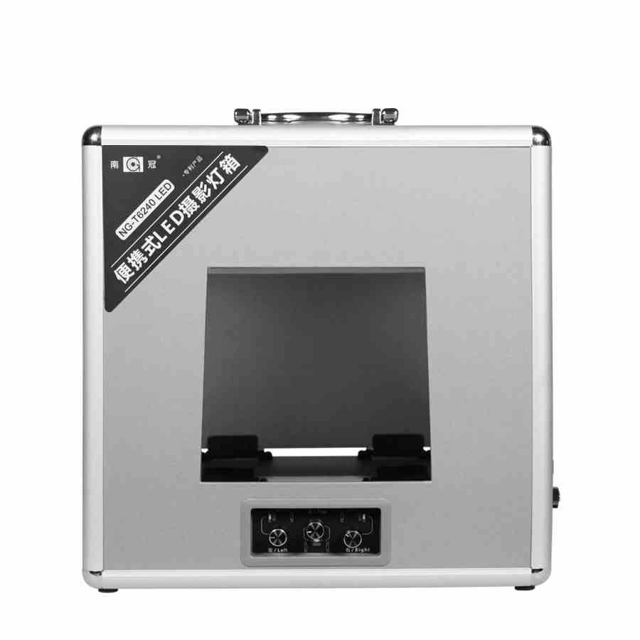 T4730 T6240 Portable Dimming Photo Lighting Box Folding Stepless Studio Shooting LED Light Tent Kit for