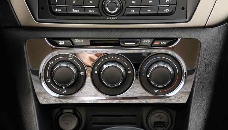 Automotive interni in acciaio inox aria condizionata cornice del pannello swi Per Peugeot 301 fit Citroen c-Elysee Elysee 2017 2018