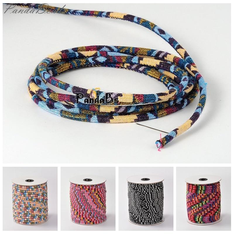 4 мм; 50 ярдов/рулон веревки ткань этнические шнуры материал для изготовления ювелирных изделий Оптовая скидка вышивка бисером, вышивка специальное предложение