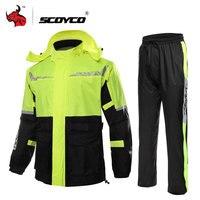 SCOYCO с капюшоном плащ мотоцикл мужские водонепроницаемые мотоциклетные куртка отражатель кузова дождь костюм Открытый мотоцикл одежды