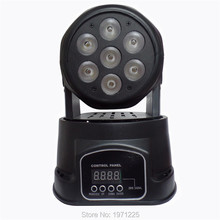 2PCS/LOT   Advanced 14 channels led mini wash moving head light 7x12w rgbw 4in1  Quad with advanced 14 channels Free Shpping