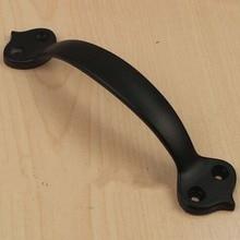 Современный простой кухонный шкаф ручка 100 ММ ящика потяните черный комод шкаф шкаф мебельные ручки тянет