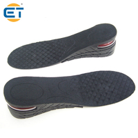 Unisex 6cm 3 Layer Height Increase Insole Adjustable Rubber Insoles Air Cushion Heel Lifts Shoe Inserts