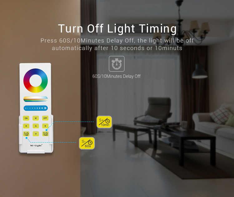 Mi Light 2.4G sans fil RGB + CCT système de contrôle de LED intelligent FUT045A télécommande avec contrôleur pour Dim/CCT/RGB/RGBW 5050 3528 bande de LED