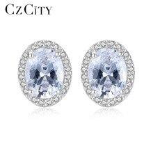 CZCITY Women Genuine 925 Sterling Silver Earrings for Women