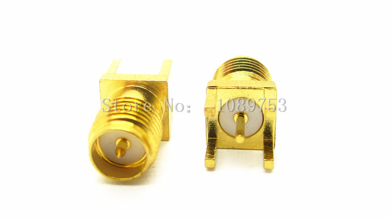 10PCS RP-SMA Female Jack Panel Mount PCB Solder Connectors SMA Female Jack Receptacle Solder 106171 2030[fiber optic connectors bsc back panel adapt k pa mr li