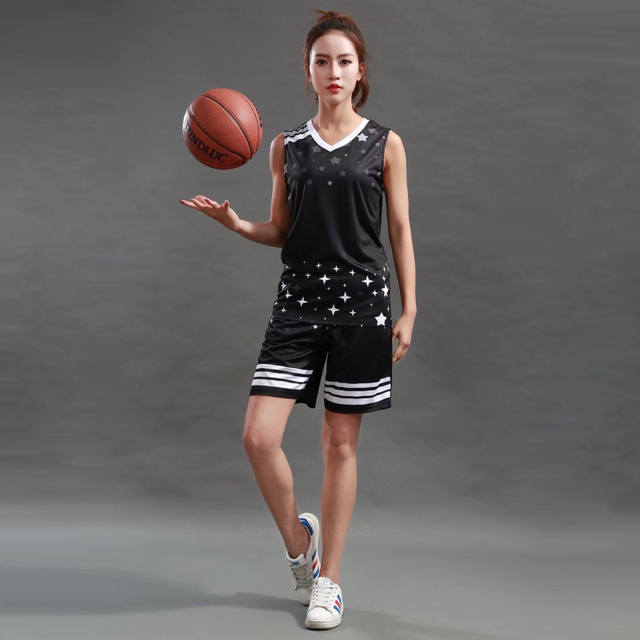 3123880ee19 Women basketball jerseys Sports clothing top and shorts team customize girls  cheap college basketball training suits
