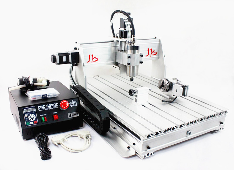Russia only,no tax!!CNC router 6040Z-S80  4 axis engraver/milling/drilling machine Numerical Control router no tax to russia cnc 5 axis t chuck type include a aixs