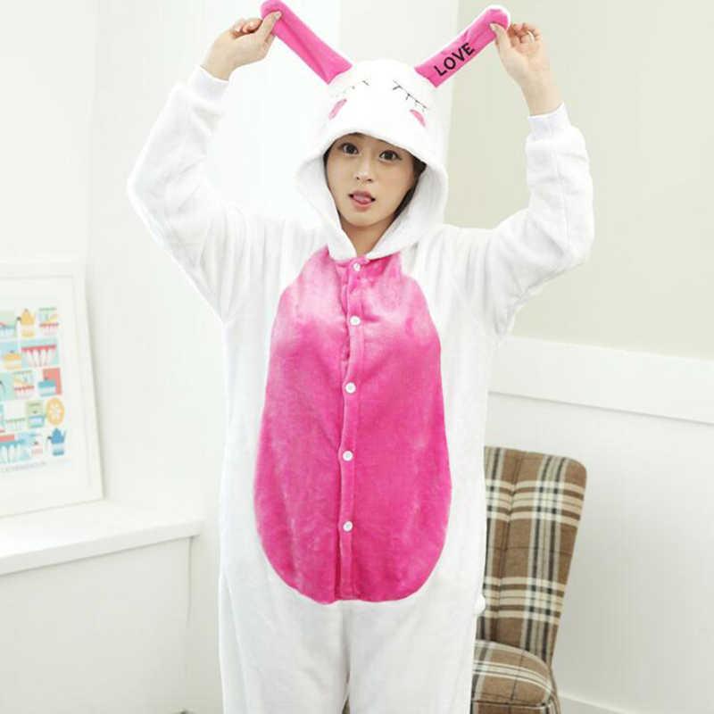 Взрослый Аниме Kigurumi onesies любимый Кролик костюм для женщин и мужчин животное синий Стич Одежда Цельные пижамы Домашняя одежда для девочек
