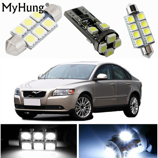 For VOLVO C30 S40 S60 S80 XC60 Car Led Interior Light Replacement Bulbs  Dome Map Lamp