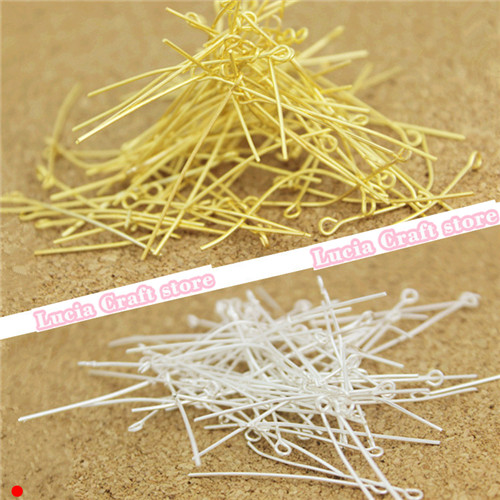 Multi Sizes options Silver Plated Eye Pins Head Pin Needle Jewelry Accessory Garment DIY G1216