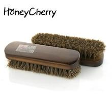 1Pcs Horse hair shoe brush full horse hair, oil polish tool, scrub suede fur, clear leather shoes