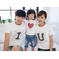 2016 New Mommy And Me Clothes Cute Family Look Tshirt Father Mother Daughter Matching Clothes