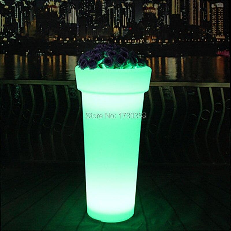 X-POT H96 High Tower Round LED Flower Pot (4)