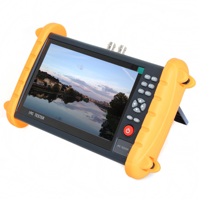7 Inch IP CCTV Tester Monitor IP Analog Camera Tester cable scan 1080P Wifi ONVIF support 12V2A POE output HDMI st4000pro with ce certification factory provide cctv camera tester monitor