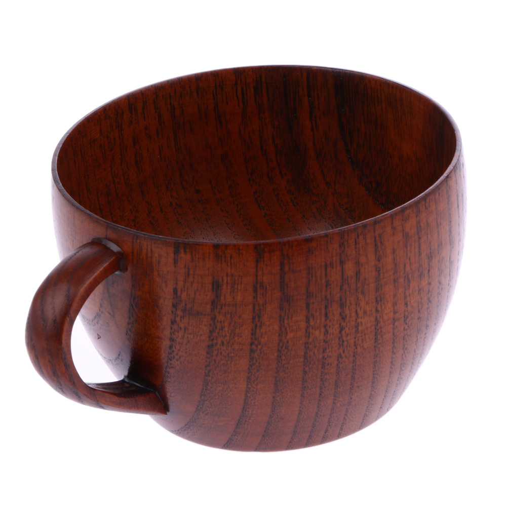 210ml Tea Cup Natural Jujube Wooden Cup with Handgrip Wine Beer Milk Coffee Cup for Home Bar Kitchen Accessories