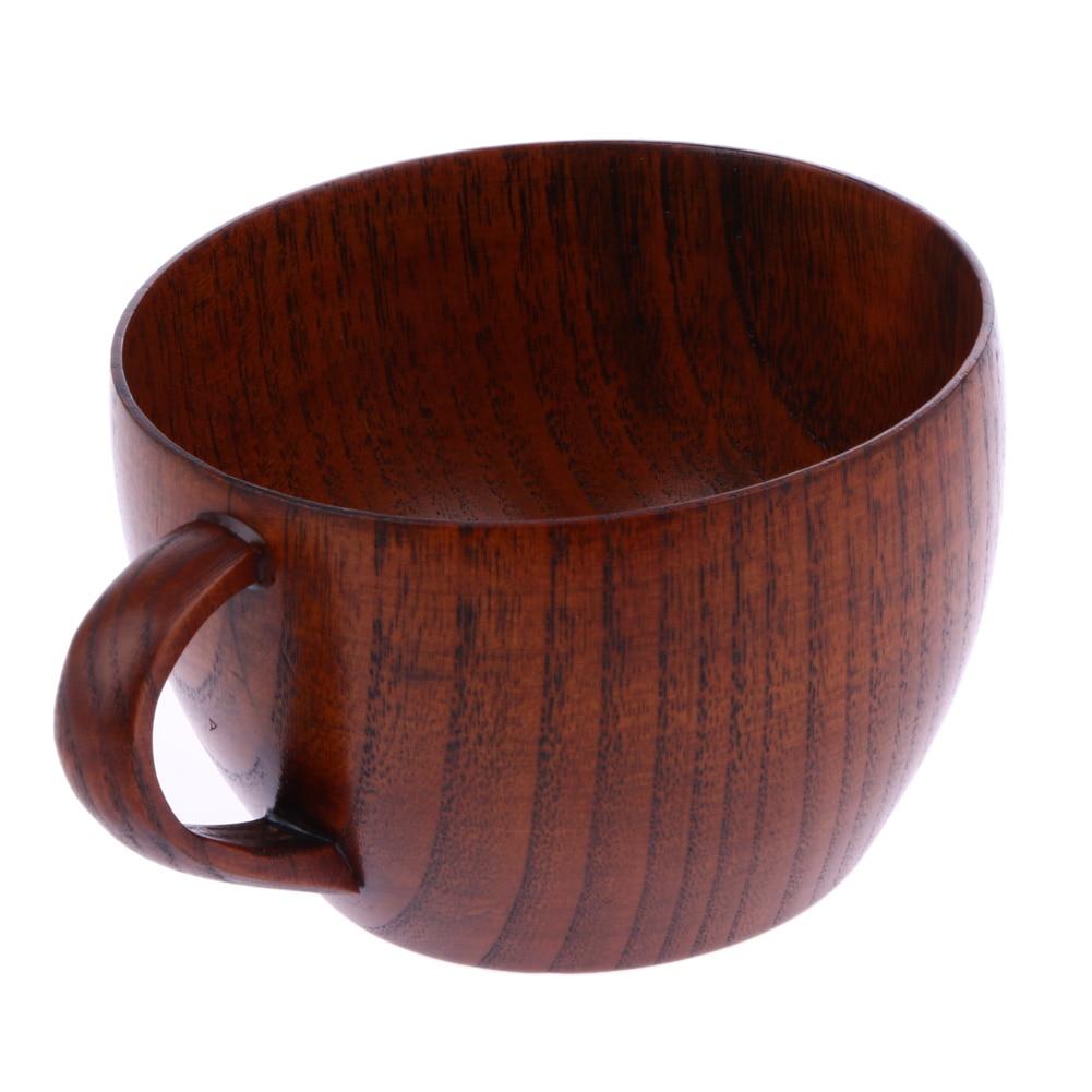 210ml Tea Cup Φυσικό ξύλινο κύπελλο Jujube με χειρολαβή κρασιού μπύρα γάλακτος καφέ φλιτζάνι για το σπίτι μπαρ Αξεσουάρ κουζίνας