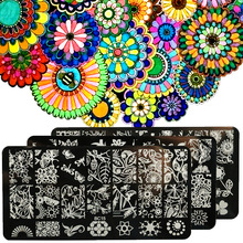1pcs New Nail Stamping Plates Stainless Steel Nail Art Stamp Template Manicure Nail Tools BC11-20