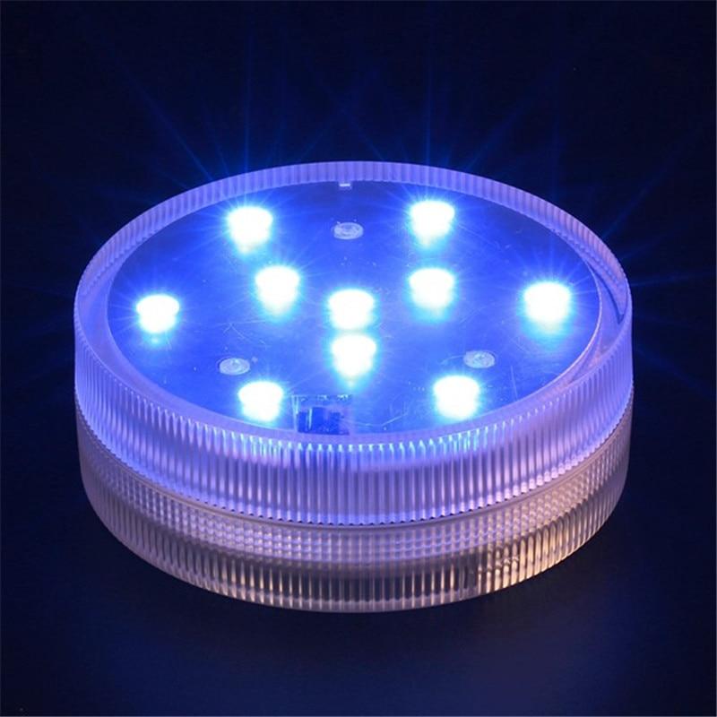 20pcs / lot 7CM vodootporni višebojni RGB uronjeni LED cvjetni vaza - Rasvjeta za odmor - Foto 2