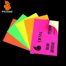 Warna A4 Cetak Label Stiker Menulis Matte Kosong Kertas Merah Muda Merah Self-Menempel Perekat Manual Diy Laser Ink Jet printer Kotak Hadiah(China)