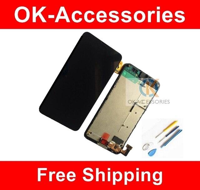 1 pc/lot para nokia lumia 630 n630 lcd display + touch screen + frame digitalizador asamblea con herramientas libres