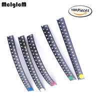 smd 1206 led 100pcs/lot 0805 SMD LED light Package LED Package Red White Green Blue Yellow 1206 led in stock Free Shipping (1)