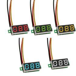 0.28in светодиодный цифровой вольтметр детектор мини DC 0- 100 в 3-проводной светодиодный дисплей Цифровая панель индикатор напряжения измерител...