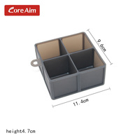 4 Cavity Silicone Ice Cube Tray Ice Mold Food Grade 2pc Ice Maker Chocolate Mold Mould
