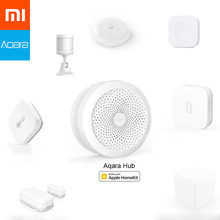 Xiaomi AQARA Smart Home Kits Gateway Hub puerta ventana Sensor de choque Sensor de cuerpo interruptor inalámbrico Sensor de agua para Apple Homekit(China)
