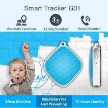 מיני מפתח שרשרת צווארון Rastreador GSM GPS Tracker Locator Finder עבור רכב ילדי מחמד SOS קול צג APP מעקב מערכת