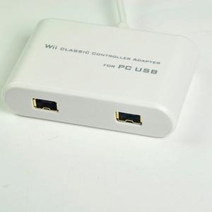 Image 3 - Beyaz MayFlash çift bağlantı noktalı klasik denetleyici Pro Nunchuk USB adaptörü PC için Wii için PS3 ile uyumlu Windows 98/XP/Vista/RT/8