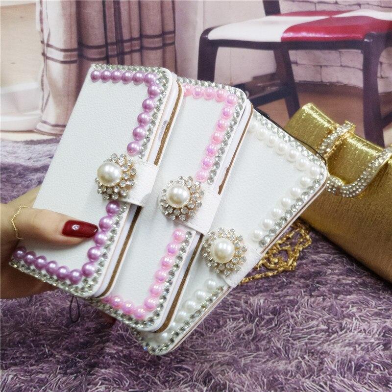 LaMaDiaa Handmade Bling Diamond Rhinestone PU Leather Filp Cover Wallet Case For iphone X 5s SE 5C 6 6s 7 8 plus