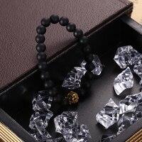 новинка 2017 года шарм мода императорская Золотая корона черная гантели браслеты для мужчин натуральный камень бусины для для женщин для мужчин ювелирные изделия интимные аксессуары