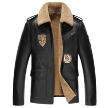 2017 New Men Bomber Coats Genuine Sheepskin Natural Leather Motorcycle Luxury Jacket G0009