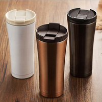 Hot Sale Double Wall Stainless Steel Coffee Thermos Cups Mugs Thermal Bottle 500 Ml Thermocup Fashion