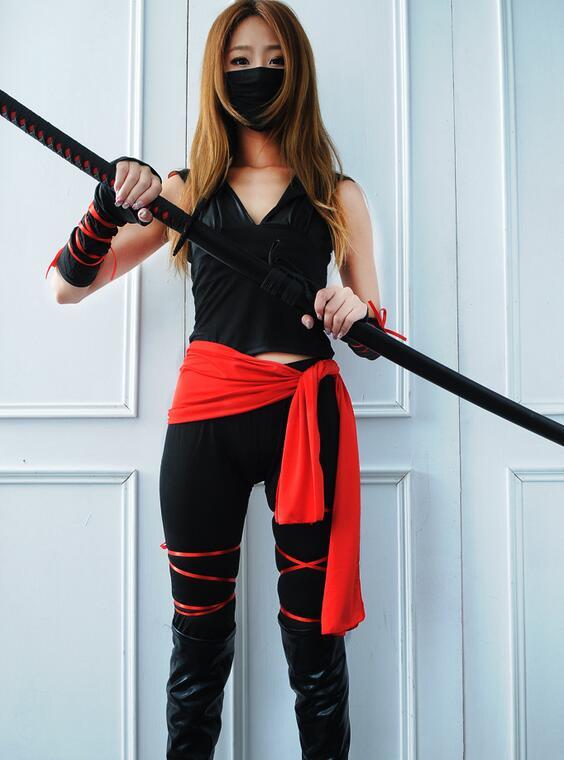 2017 Dtwobros Halloween Sexy Ladies Female Ninja Costume Cosplay