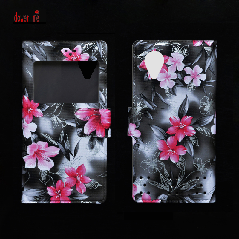 dower me New Soft TPU Case + Fashion Colorful PU Leather Flip Case Cover For Ginzzu S5230 Smartphone