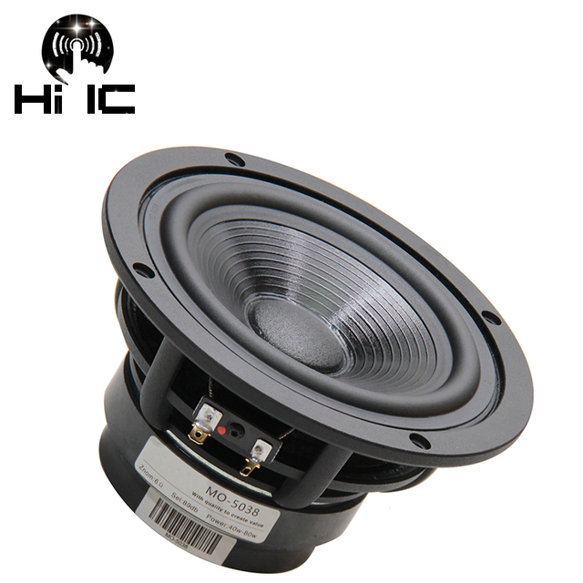 1PCS 55 Inch 80W HiFi Subwoofer Speaker Woofer High Power Long Stroke BASS Home Theater For