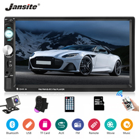 Jansite 7 Touch Screen 2 din Radio Car MP5 Player with Backup camera Bluetooth Full HD Car Stereo radio Steering wheel control