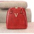 Многократного Использования-популярный красный V сумки также двойной мешок плеча женщины сумка подарок