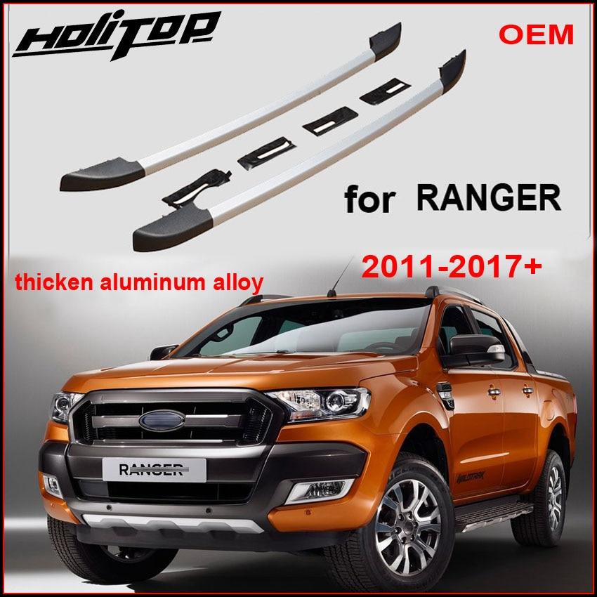 the latest a4888 00855 Hot Roof rack rail roof bar for Ford Ranger 2011-2018,best aluminum alloy
