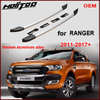 Hot Roof rack rail roof bar for Ford Ranger 2011 2018,best aluminum alloy,fix by screws instead of cheap glue, guarantee quality