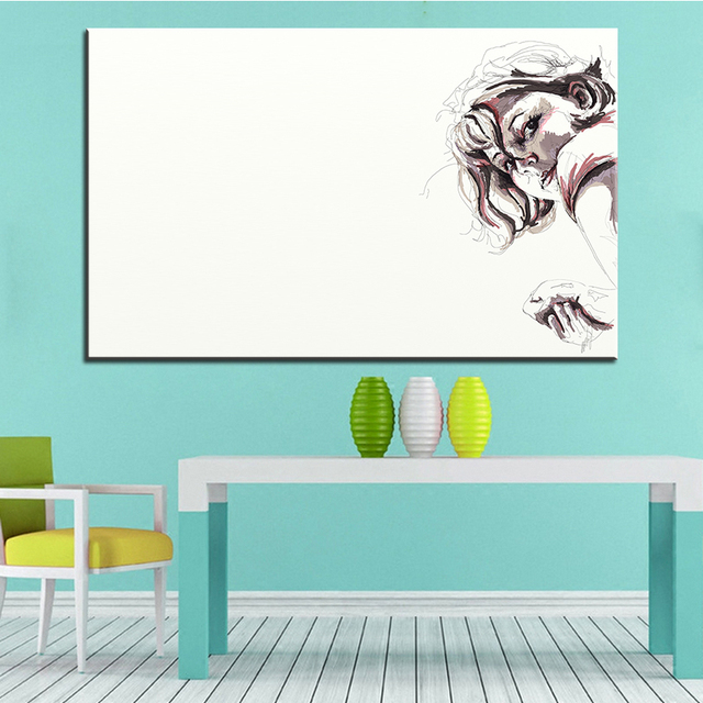 Large Size Printing Oil Painting Vector Sketch Wall