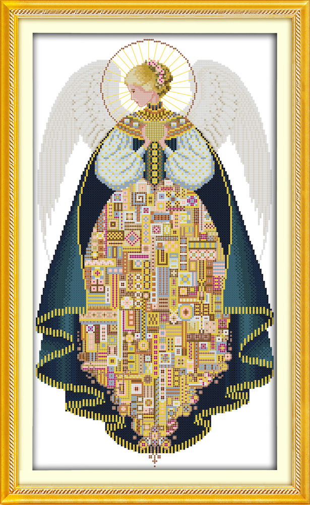 Angel (3) Printed Canvas DMC Counted Chinese Cross Stitch Kits Printed Cross-stitch Set Embroidery Needlework