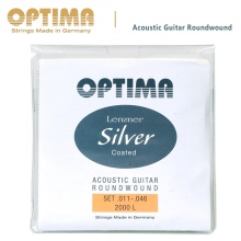 OPTIMA 2000L Lenzner Silver Acoustic Guitar Strings 11-46 with Hexagonal core