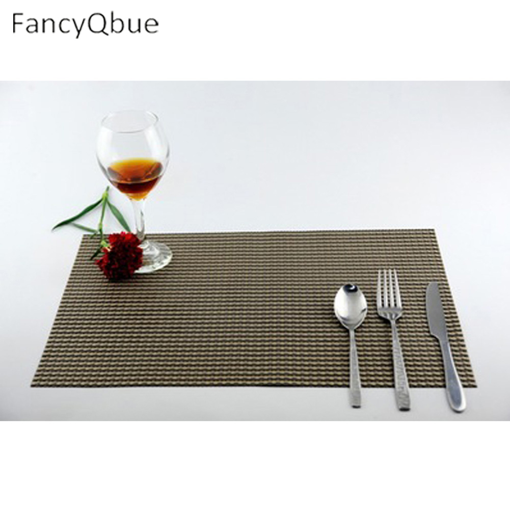 1PC Placemat fashion pvc dining table mat disc pads bowl pad coasters waterproof table cloth pad slip-resistant pad