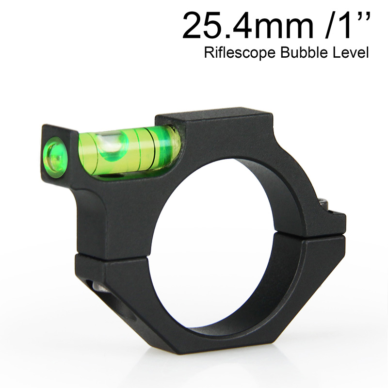AirSoft Gun Rifle Scope Bubble Level Mount Ring Ring Adapter untuk 1 Inch Rifle Scope For Memburu gs33-0090