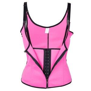 Image 5 - Frauen Taille Trainer Körper Shaper Workout Taille Korsett Bauch Cincher Control Weste Zipper Unterbrust Korsetts und Bustiers XS 4XL