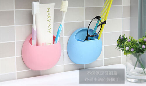 1Pc Home Bathroom Toothbrush Wall Mount Holder Sucker Suction Organizer Cup Rack 4 Color