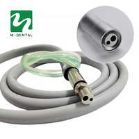 Dental 2 Holes Handpiece Hose Tube With Connector For High Speed Handpiece Dentistry Material